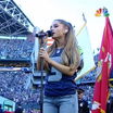 Ariana Grande Performs The National Anthem At NFL Kickoff Game