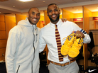 Kobe Bryant Blesses Lebron James With Kobe 11s Straight Off His Feet