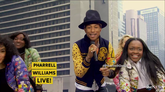 """Pharrell Performs """"Happy"""" In Times Square"""