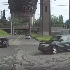 Instant Karma: Driver Blows Through A Stop Sign Then Cuts A Cop Off