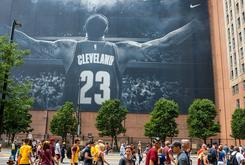 That Huge LeBron James Banner In Downtown Cleveland Will Be Taken Down