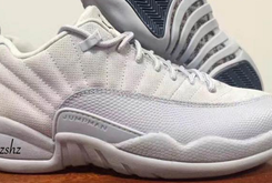 "First Look At The ""White/Grey"" Air Jordan 12 Low"