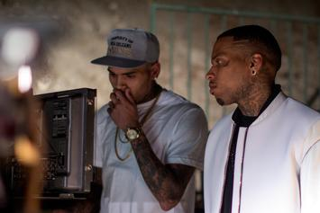 """Exclusive Photos: BTS Of Kid Ink's """"Show Me"""" Featuring Chris Brown"""