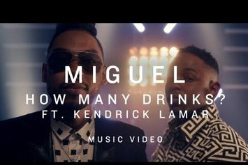 """Miguel Feat. Kendrick Lamar """"How Many Drinks (Remix)"""" Video"""