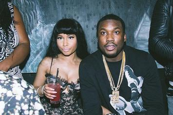 Nicki Minaj Brings Meek Mill Out In Paris