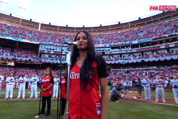 Ciara Sings National Anthem At 2015 MLB All-Star Game