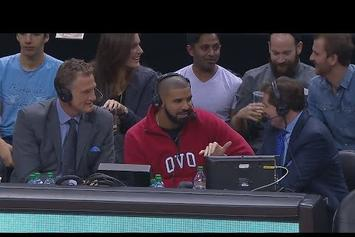 """Drake Sits Down With Toronto Raptors Commentators After Dropping """"Summer Sixteen"""""""