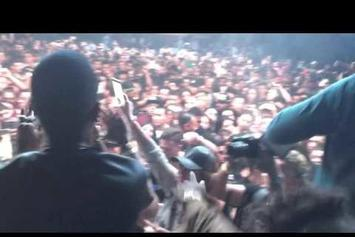 """Juicy J Performs Unreleased Travi$ Scott Collab, """"No English,"""" In L.A."""