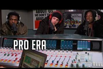 Joey Bada$$, Nyck Caution, & Kirk Knight Interview & Freestyle On HOT 97