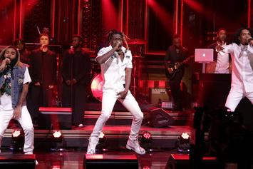 "Flatbush Zombies Perform ""Bounce"" On Jimmy Fallon"