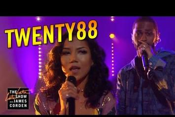 """Watch Big Sean & Jhene Aiko Perform """"On The Way"""" As Twenty88 On The Late Late Show"""