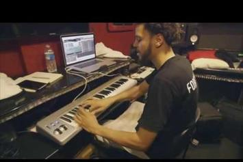 Watch J. Cole Make A Beat In The Back Of His Tourbus