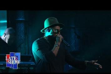 "ScHoolboy Q Performs ""THat Part"" On Stephen Colbert"