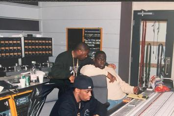 Diddy Debuts New Photo With  Biggie In Studio