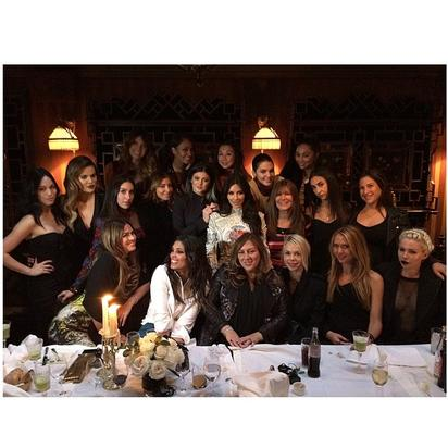 """Kim Kardashian with her girlfriends at the """"last supper"""""""