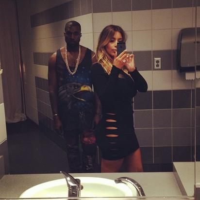 KimYe (how excited does Kanye look?)