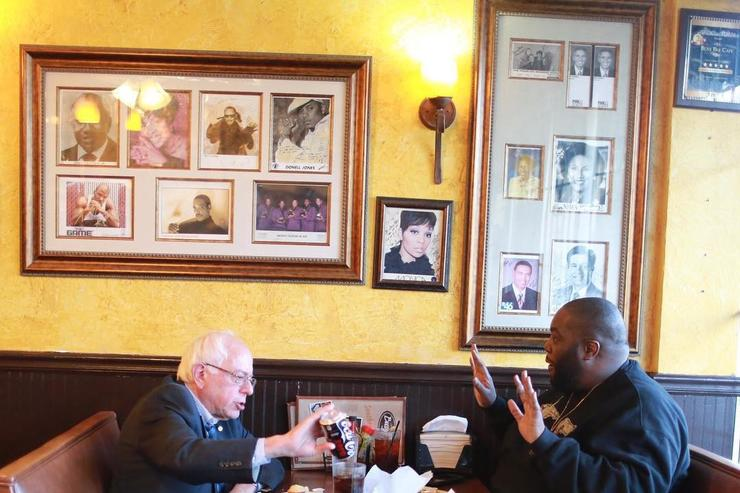 Bernie Sanders dines with Killer Mike in Atlanta