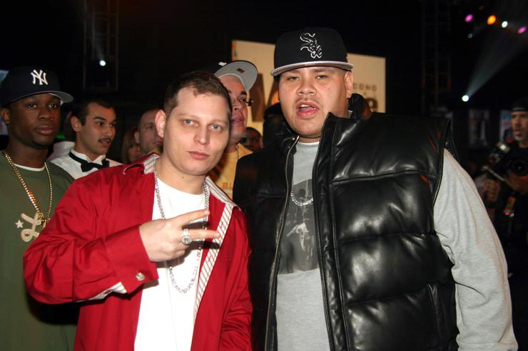 Scott Storch with Fat Joe at the 2004 Vibe Awards