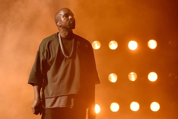 Kanye West performs on stage