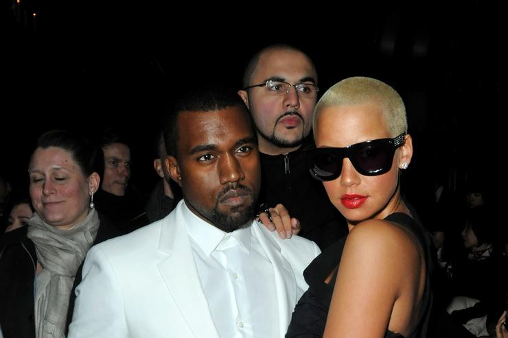 Kanye West and Amber Rose in 2010