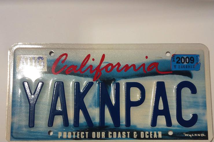 License plate commemorating Tupac & Yaki