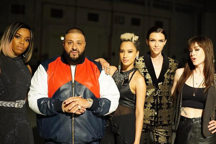 DJ Khaled on set of Pitch Perfect 3
