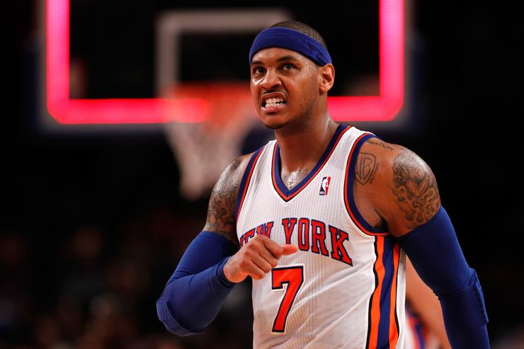 Carmelo Anthony says he hasn't met with Knicks about future